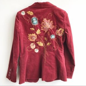 Cabi Jacket Velvet Embroidered 180 Poet Blazer